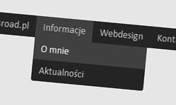 Rozwijane menu poziome CSS3