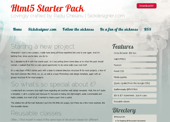 HTML5 Starter Pack