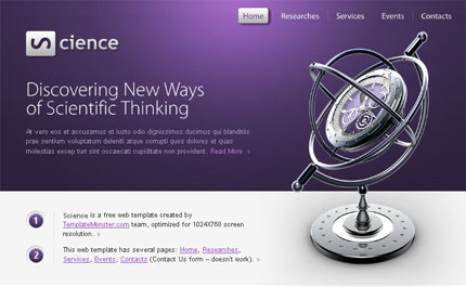 Science HTML Template