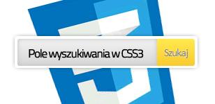 Pole wyszukiwania w CSS3