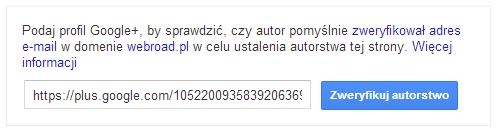 Wprowadzanie linku do profilu Google+