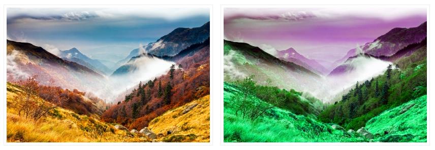 Hue rotate - odwrócenie barw w CSS