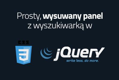 Wysuwany panel jQuery