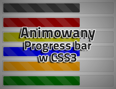Animated striped progress bar