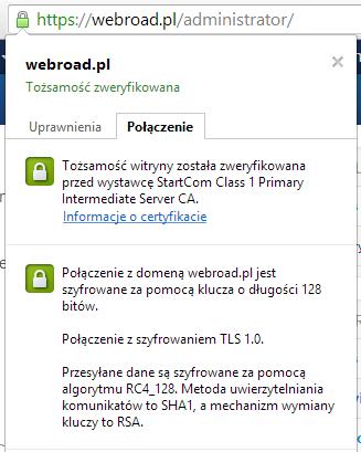 Certyfikat SSL - startSSL