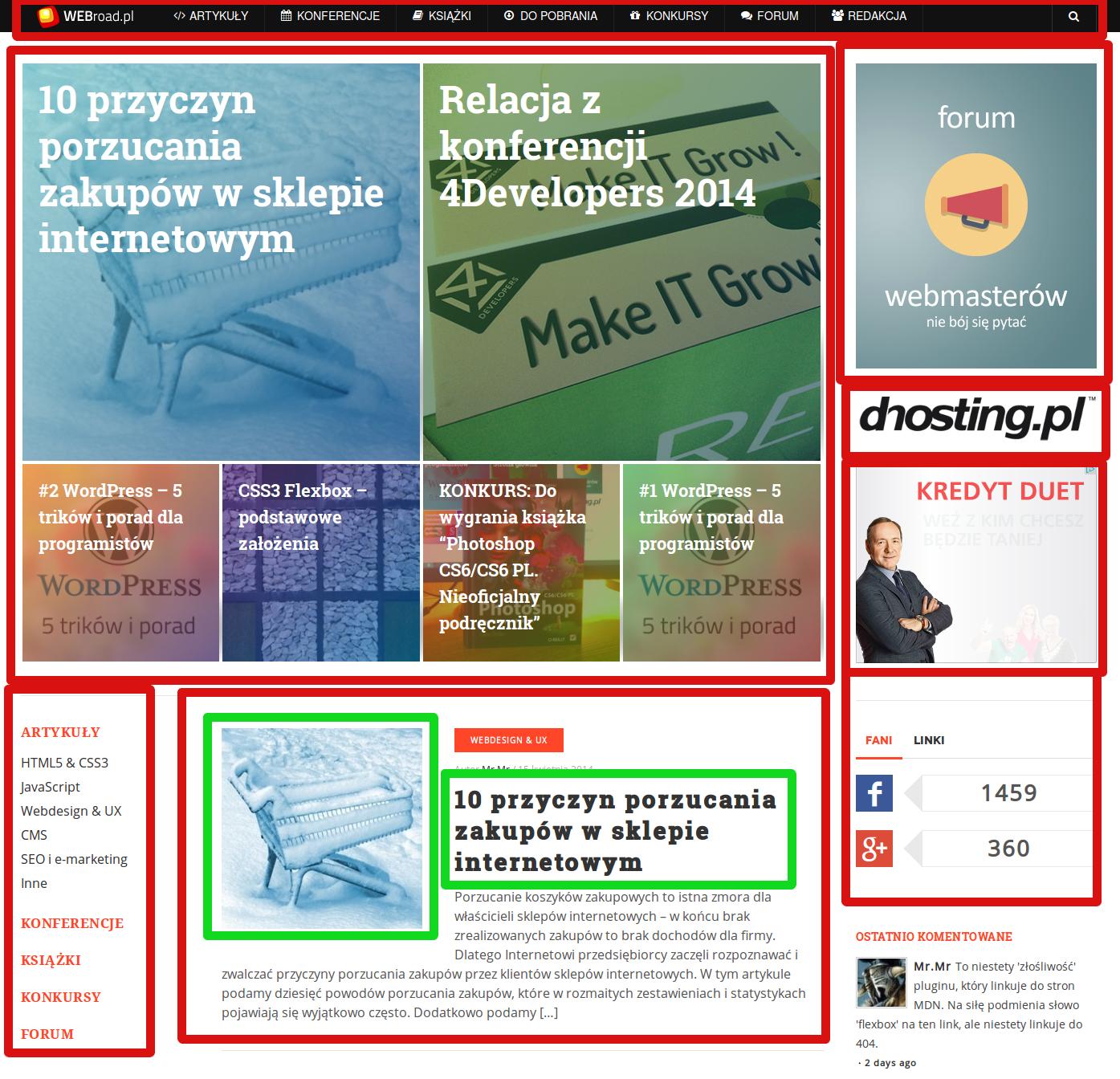 Webroad.pl - przykłady elementów BEM