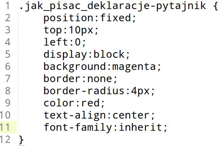 Jak segregować właściwości w deklaracjach CSS