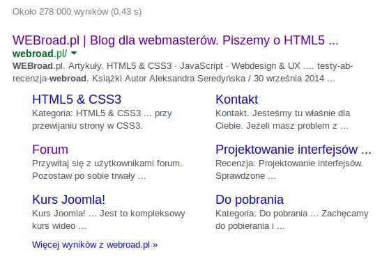 """Wyniki wyszukiwania hasła """"Webroad"""""""