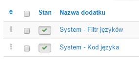 System: Filtr języków i kod języka