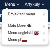 Menu języków