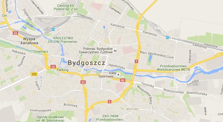Kolorowa mapa google