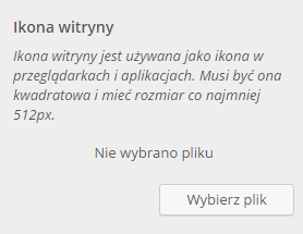 Ikona strony - WordPress