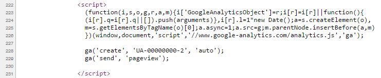 Kod śledzenia Google Analitics