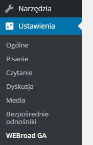 Odnośnik w menu panelu