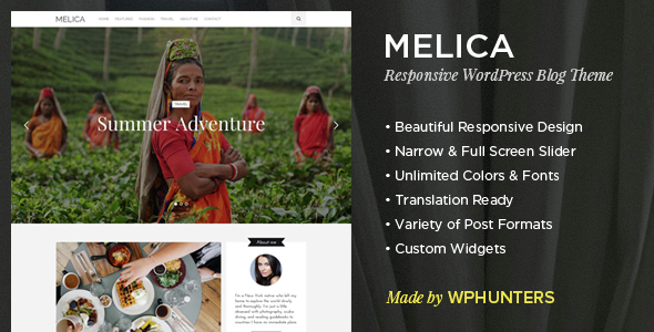 Melica – Responsive WordPress Blog Theme