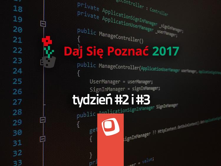 DSP2017 - tydzień 2 i 3