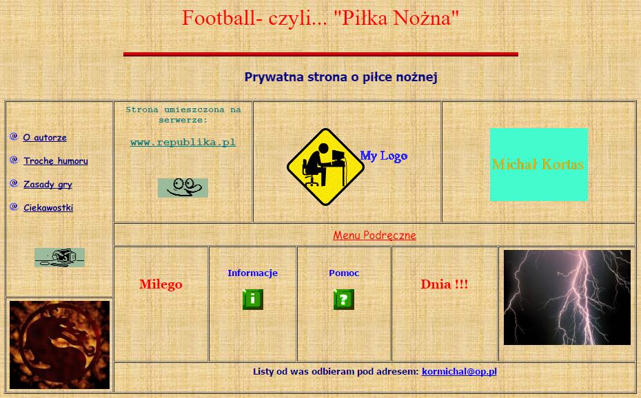 Moja pierwsza strona. Rok 2007