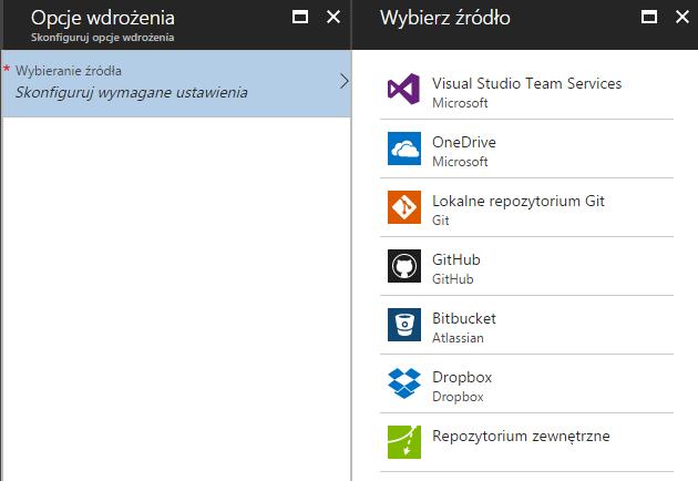 Opcje wdrożenia do Microsoft Azure
