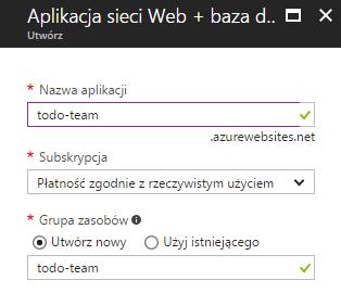 Wstępna konfiguracja aplikacji