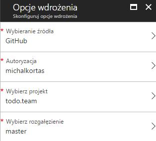 Wybór projektu z GitGub