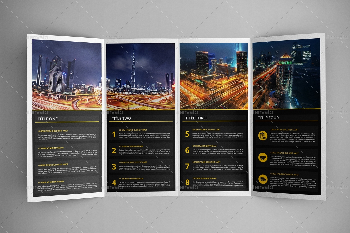 Double Gatefold Brochure Mock-Up 2