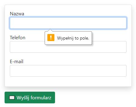 Walidacja formularza